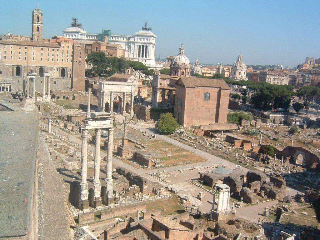 古代ローマ遺跡(フォロロマーノのまわりかた)