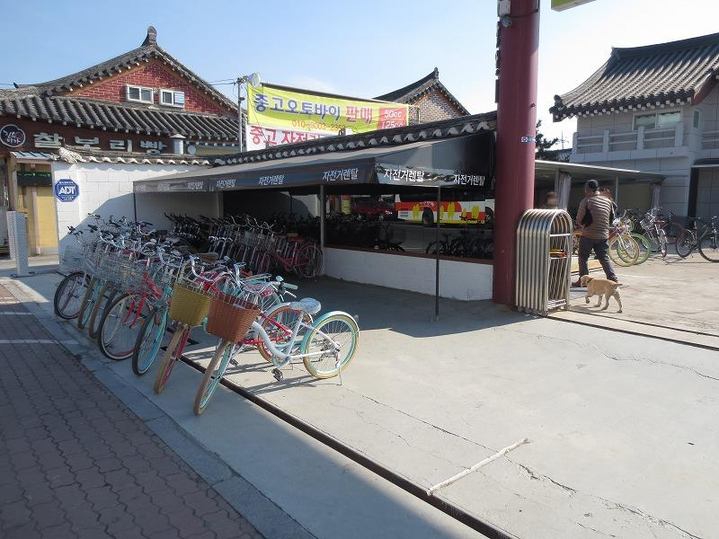 韓国旅行 (新慶州駅から市街地へ そしてレンタサイクル)